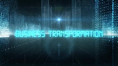 Skyscrapers Digital City Tech Word Business Transformation