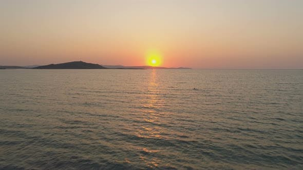 Thumbnail for Beautiful Sunset Or Sunrise Over Sea, Aerial View.