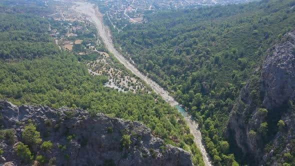 Thumbnail for Aerial Top View Goynuk Canyon Turkey