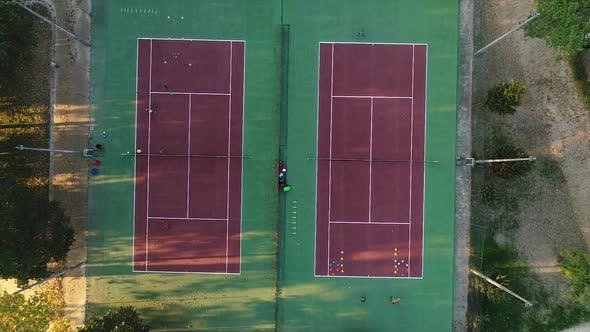 Thumbnail for Tennis Courts, Top View