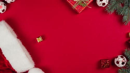 Stop motion animation of Christmas and New Year background