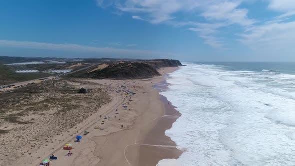 Aerial Beach Wave