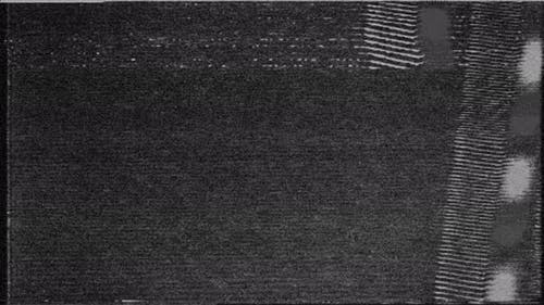 Black and White VHS Analog Noise VFX Effect