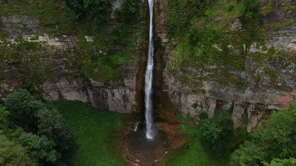 High Waterfall in the Jungle