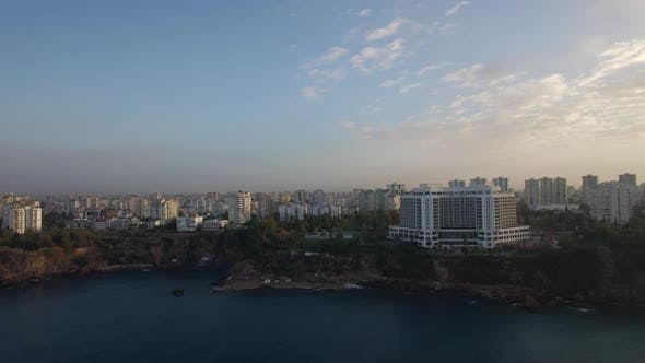 Thumbnail for - Aerial Scene of Built-up City with Coast and Sea in Foreground. Antalya, Turkey
