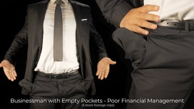 A Businessman With Empty Pockets No Money