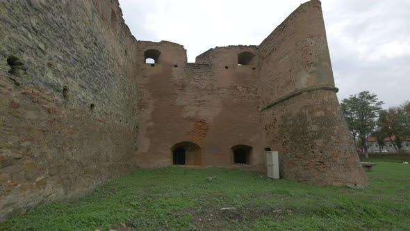 Bulwark with windows at Fagaras fortress