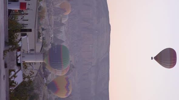 Balloons in Cappadocia Vertical Video