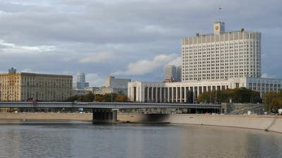 Russia  Moscow View on Building of the Government.