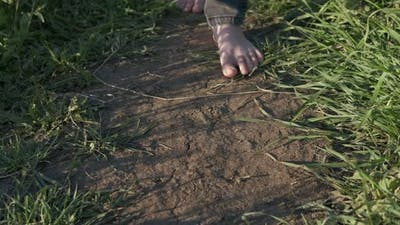 Relax Walk with Bare Feet