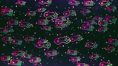 Retro-Video spiele-Hintergrund