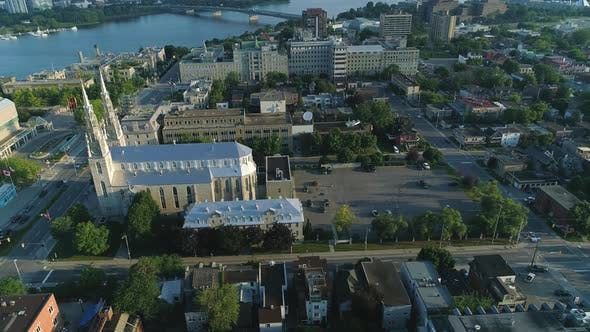 Thumbnail for Aerial of Ottawa, with the Notre-Dame Cathedral Basilica