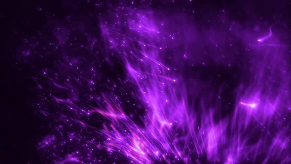 Abstract Purple Violet Luminous Realistic Slow Motion Light Particle Swarm Loop Background
