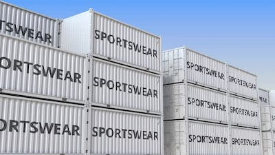 Cargo Containers with Sportswear