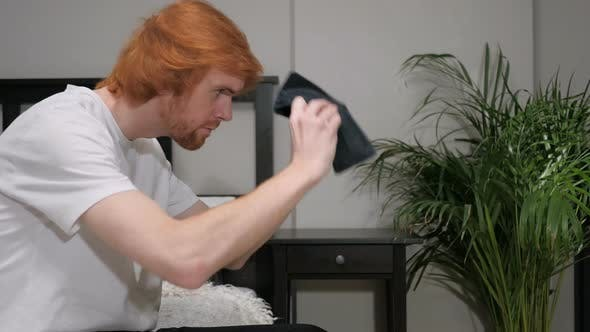 Thumbnail for No Money in Wallet, Gesture by Redhead Man