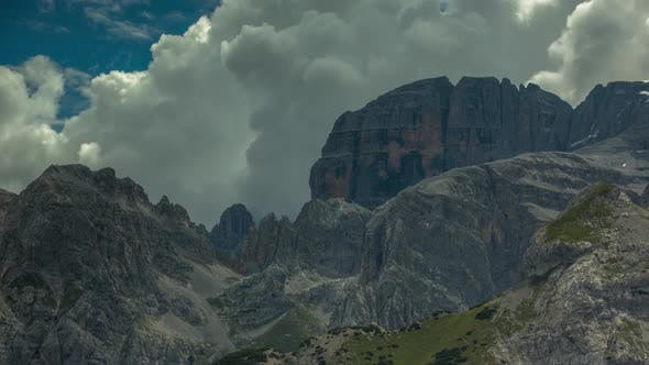 dolomites alps italy mountains snow peaks ski timelapse