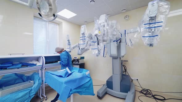 Thumbnail for Robotic Equipment in Surgery Room