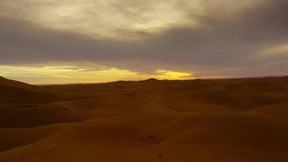 Thumbnail for Beatiful Landscape in Sahara Desert at Sunset