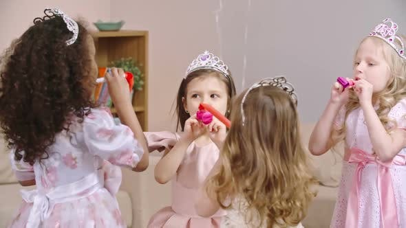 Thumbnail for Kids Celebrating Birthday with Party Horns
