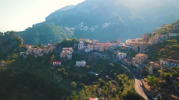 Mountain Village, Amalfi Coast Aerial