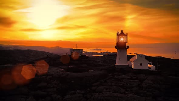 Thumbnail for Coastal Lighthouse, Lindesnes Lighthouse Is a Coastal Lighthouse at the Southernmost Tip of Norway