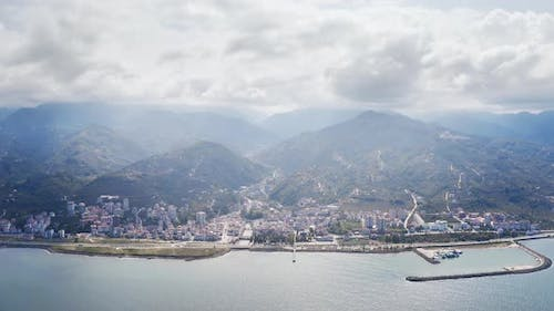 Trabzon City Seaside Aerial View 2