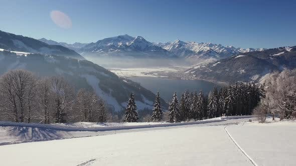 Thumbnail for Aerial view of Austria on a winter day