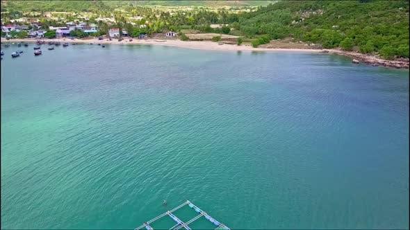 Thumbnail for Drone Flies Above Lobster Farm Across Ocean To Coast