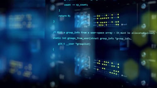 3D Programming Code Abstract Technology Background of Software Developer and Computer Script