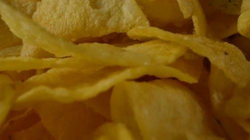 Heap of Crunchy Salty Chips