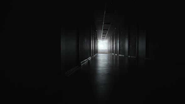 Dark Corridor of Hospital Wing