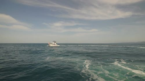 Yacht During the Ocean Voyage
