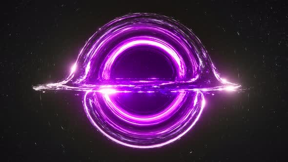 Thumbnail for Violet Black Hole Simulation Seamless Loop