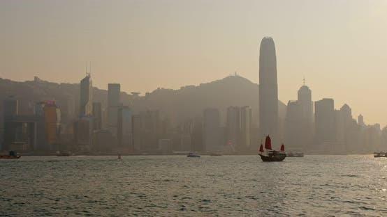 Thumbnail for Hong Kong city at sunset