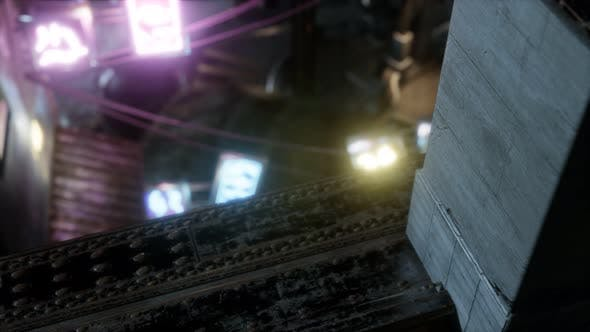 Thumbnail for Empty City Streets on Quarantine In The Rain At Night
