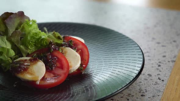 Thumbnail for Close Up of Caprese on Plate