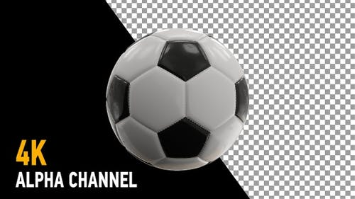 Soccer Ball Rotating with Alpha Channel