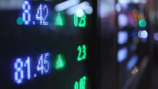 Thumbnail for Stock market growth on screen