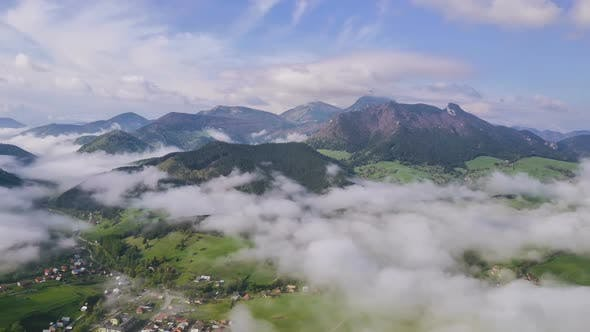 Thumbnail for Morning above Foggy Clouds Landscape