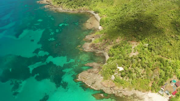 Thumbnail for Tropical Landscape with Blue Sea and Coral Reef