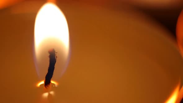 Thumbnail for Candle Flame Affected by Strong Wind, Facing Problems, Fight to Overcome Problem
