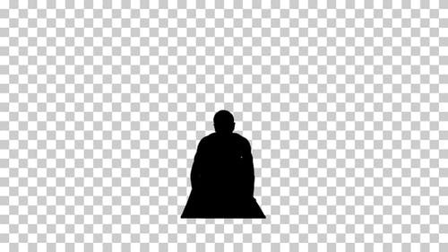 Silhouette  man working , Alpha Channel