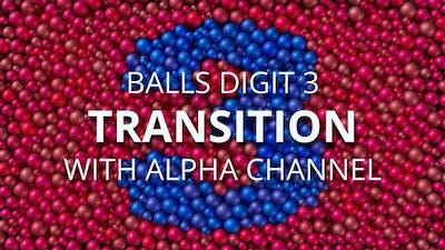 Balls Pearls Digit 3 transition