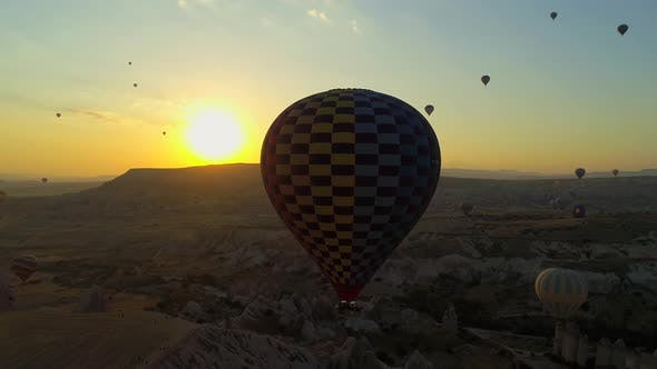 Cover Image for Turkey Sunset Cappadocia And Balloons