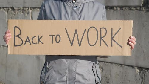 Woman want to back to work.