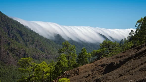 Thumbnail for Rolling Clouds Phenomenon,  Time Lapse Clip of Cumbrecita Mountains