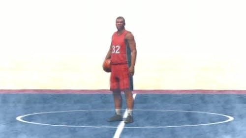 Schwarzer Basketballspieler Stop Motion