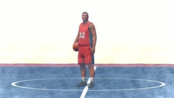 Black Basketball Player Stop Motion