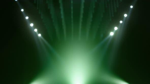Grüner defokussierter Produkt-Mockup-Bühnen