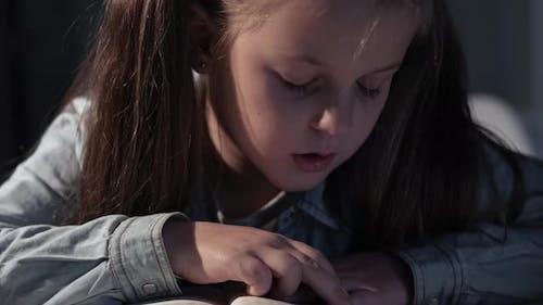 Exam Preparation Homeschooling Time Girl Reading